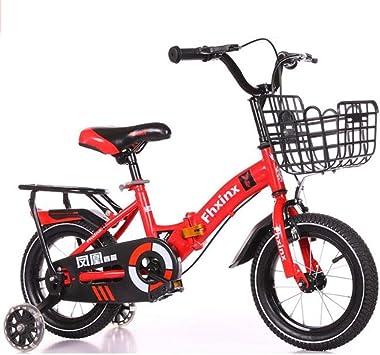 WGYEREAM Bicicleta para Niños, Bicicleta Infantil, Plegable de los ...