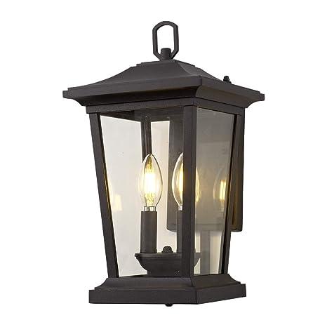 Amazon.com: Lámpara de pared para exteriores., Negro, 40.00 ...