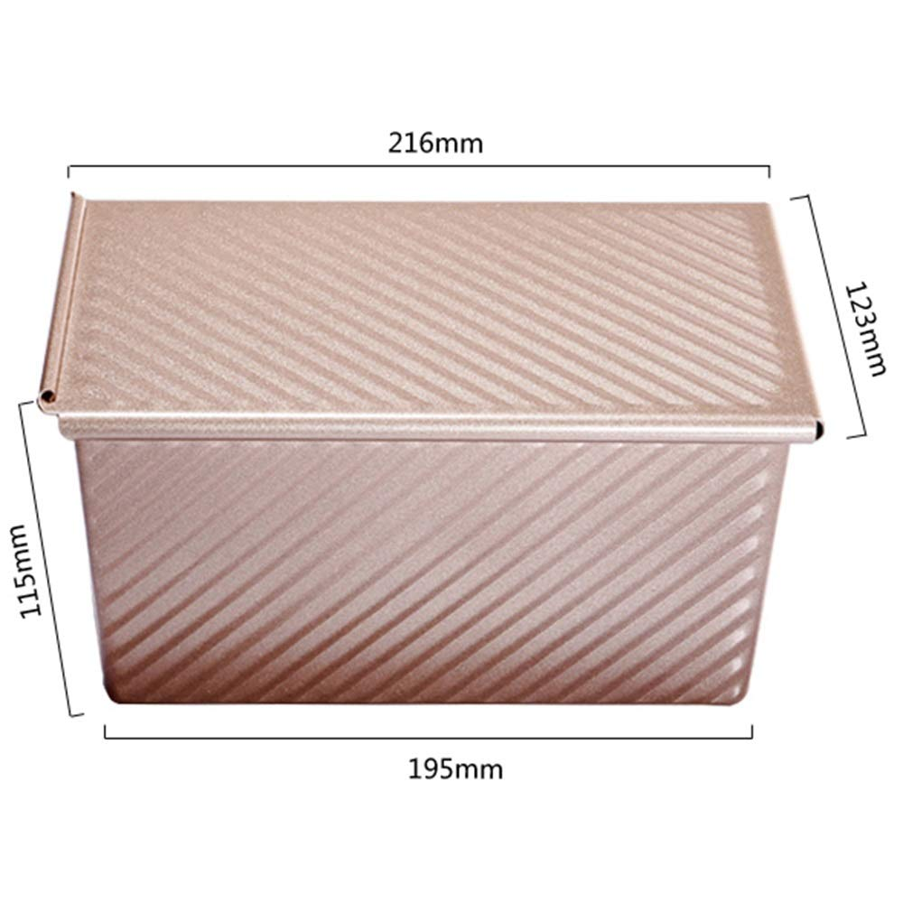 Chenteshangmao Kitchen Utensils Baking Tools, Toast Cake Bread Dessert Baking Tray Easy To Release Mold, Gold Carbon Steel (21.6 X 12.3 X 11.5cm) Characteristic mold