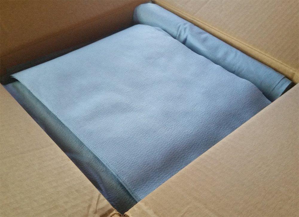 Auto Paint Prep Wipes, 500/Box, 10'' X 14'', Blue