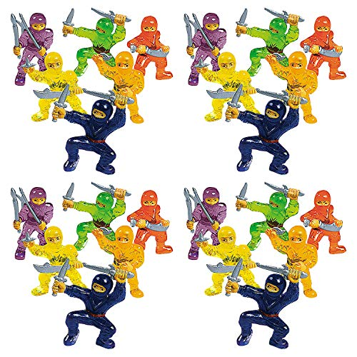 Mini Ninja Warrior Figures - 24 Count - For Cupcake Toppers and Party Favors]()