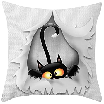 Amazon.com: HimTak - Funda de almohada cuadrada de tela de ...