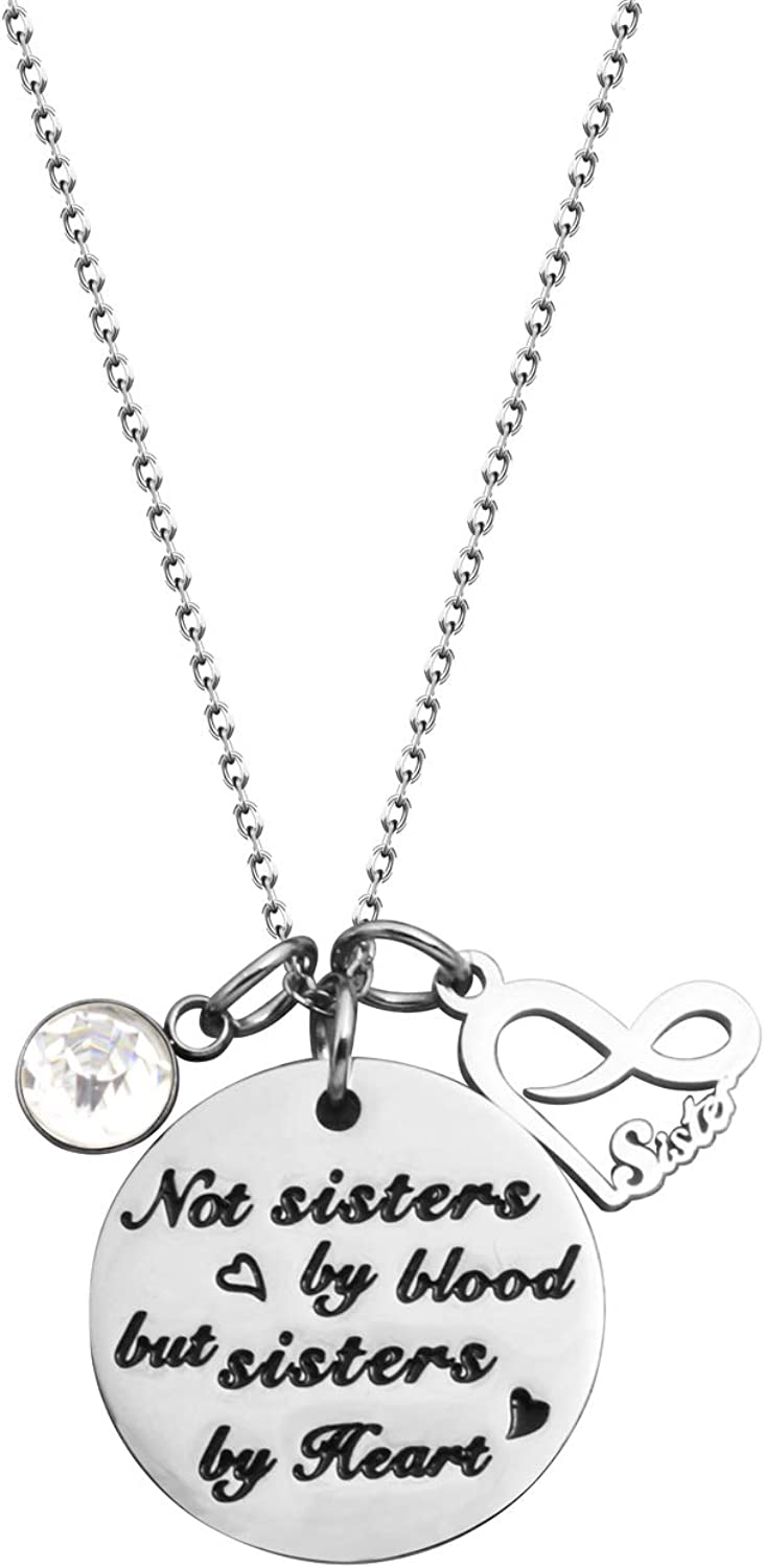 Sisters Stainless Steel Charms a couple of nuts on our family tree BFS1361
