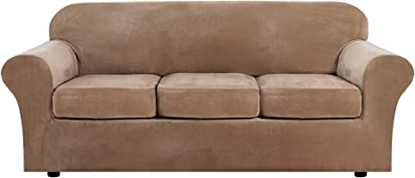 Machine Washable Seat Anchors and Removable Ties Stay Put Design with Non-Slip Backing MARKSIGN Super Soft Velvet Sofa Cover 100/% Waterproof Fabrics with TPU Membrane