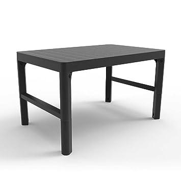 Versátil altura ajustable - Mesa de comedor de jardín resina ...