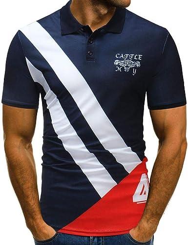 Camisa De Hombre Casual Básica Slim Fit T Polo Camisa De ...