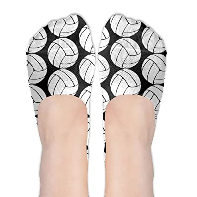MW.LLL Girls Volleyball Cozy No Show Sock Athletic Cotton Low Cut Print Casual Socks Non Slip