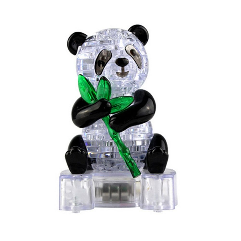 SODIAL Crystal Cute Panda Model Puzzle Popular Kids Toys DIY Building Toy Gift Gadget 3D Puzzle 149515