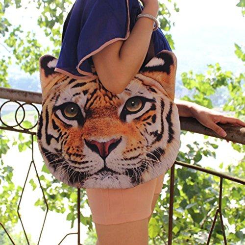 Widewing Printing Animal 3D Zipper Handbag Handbag Female Cute Face Bag Messenger Tiger rIEqI