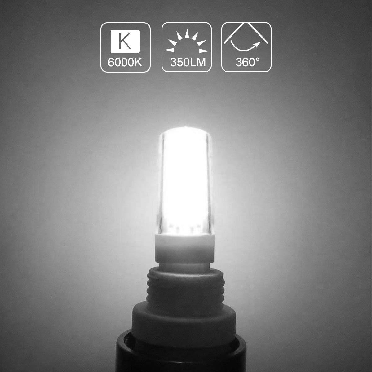 Pack of 6 G4 LED Light Bulbs Dimmable T4 JC Bi-Pin Base Energy Saving 4w Equivalent 40W Halogen Bulb Daylight White 6000K Energy Saving for Home Lighting,Puck Lights,Under Cabinet Lights