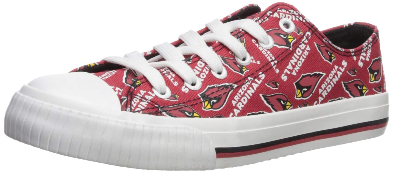 FOCO NFL Womens Low Top Repeat Print Canvas Shoe: Arizona Cardinals, Large