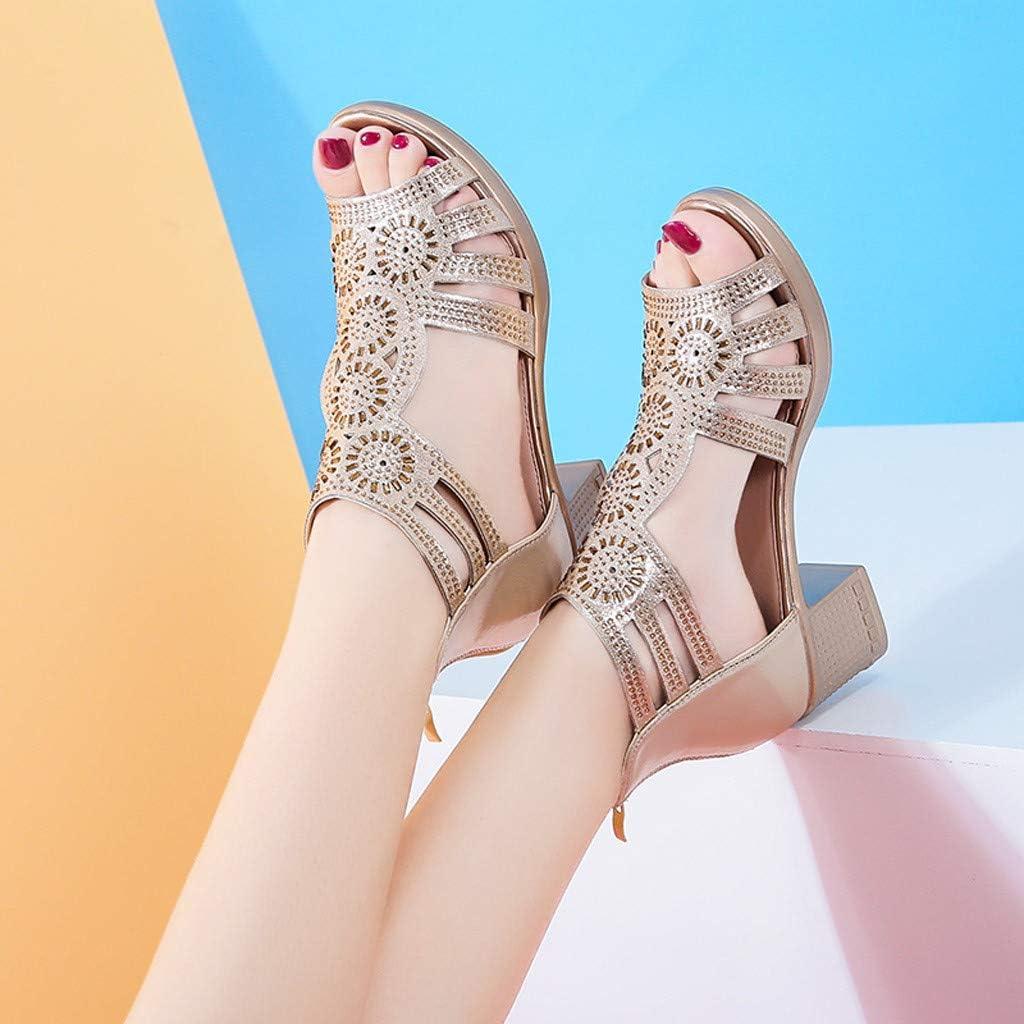 Women/'s Ex MNS Wide Fit Block Heel Two Band Ring Sandals UK 5.5 EU 39