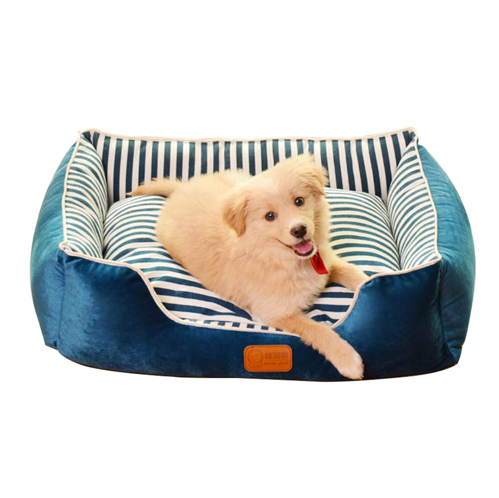 bluee XLZYING Pet Dog Bed, Detachable Comfort Sofa, Pet Bed For Dogs Or Cats, Washable, Can Be Used In A Variety Of colors And Styles