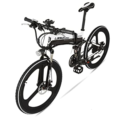 """GTYW Bicicleta Plegable Eléctrica Bicicleta De Montaña Azul Kress Bicicleta Eléctrica 26 \""""pulgadas"""