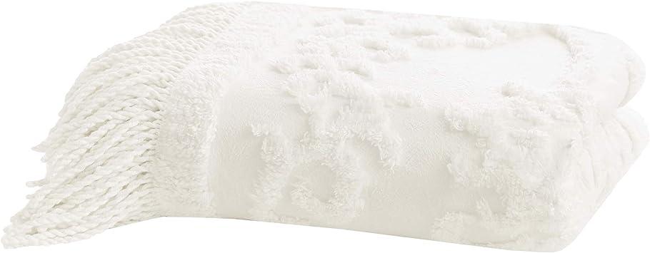 Manta de algodón de color marfil, 127 x 152 cm: Amazon.es: Hogar