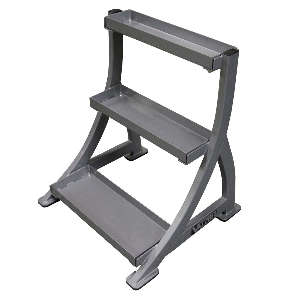 Valor Fitness Kettle Bell Rack, Coated Steel Gray