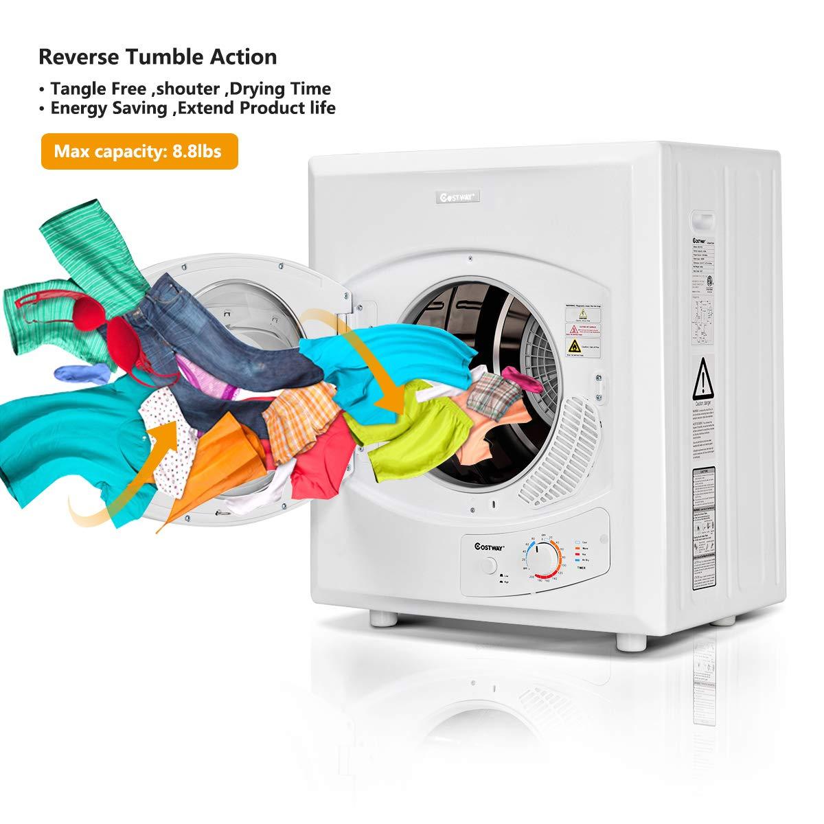 Amazon.com: Costway Secadora eléctrica compacta de acero ...