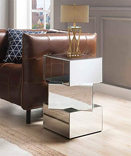 ACME End Table, Mirrored