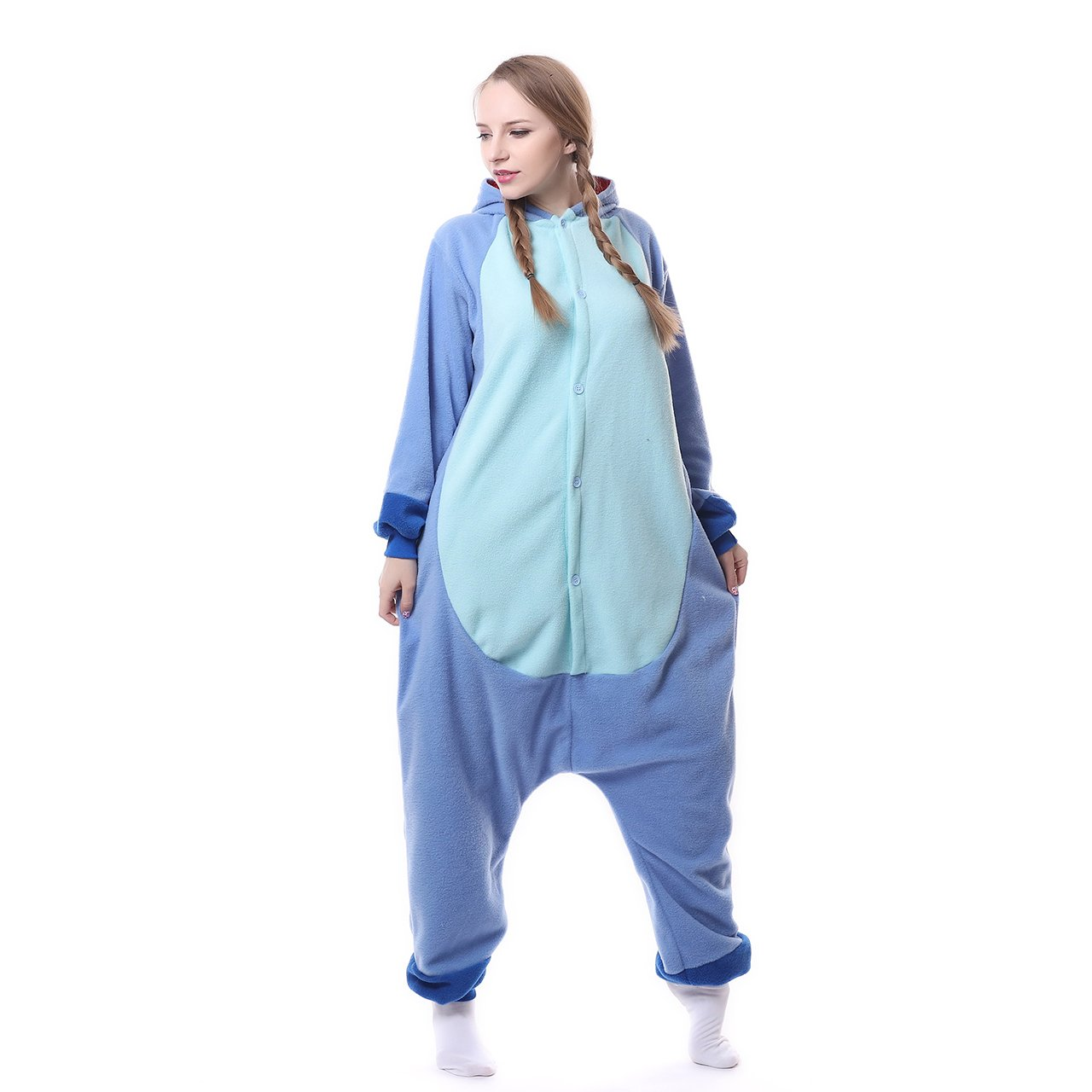 MEILIS Cartoon Sleepsuit Costume Cosplay Lounge Wear Kigurumi Onesie Pajamas Stitch,Birthday or Christmas Gift,Blue by MEILIS (Image #5)