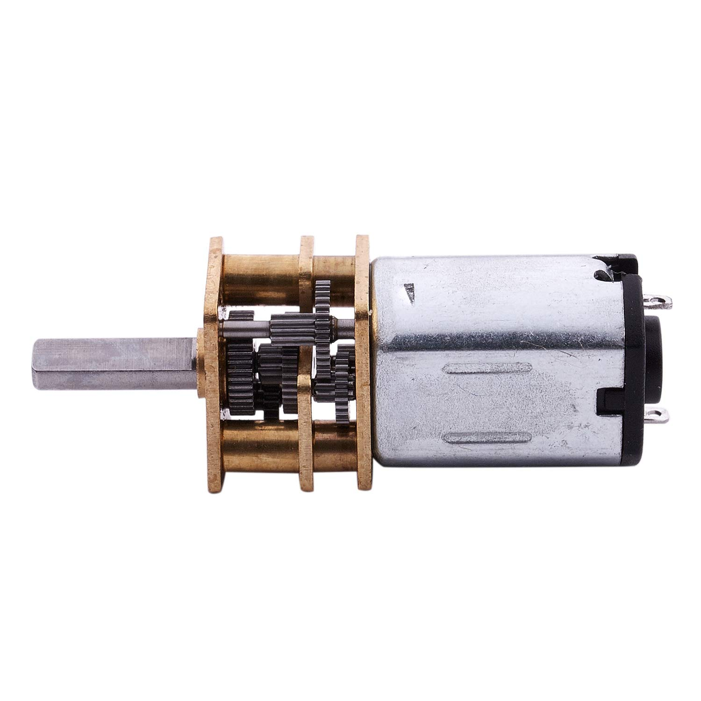 CUHAWUDBA DC 3V 0.3A 15RPM Caja del motor reductor electrico para el robot