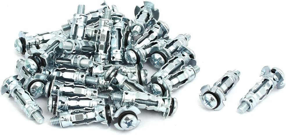 uxcell M4x20mm Phillips Socket Head Expansion Bolt Sleeve Anchor 30pcs