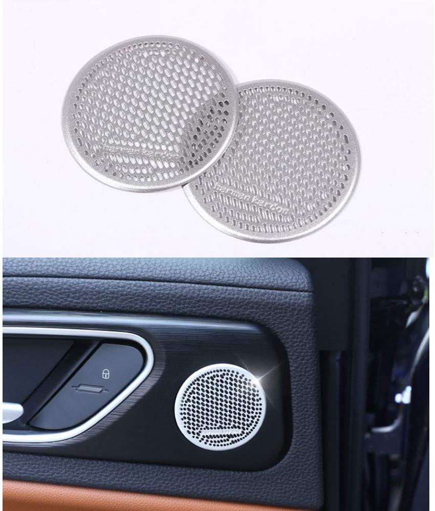 Rear Door Horn Speaker Decoration Net Trim Cover Accessories for Alfa Romeo Giulia 2017 2pcs