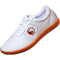 KIKIGOAL Zapatos Neutrales del Tai Chi Tendón Al Final De Los Zapatos De Tai Chi Zapatos De Cuero Suaves Transpirables del Ejercicio De La Mañana