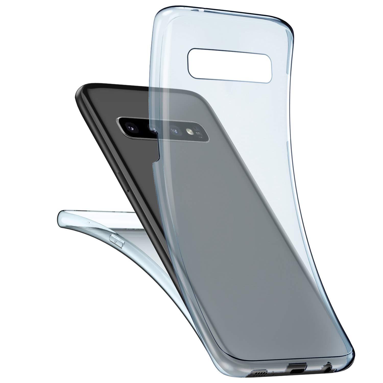 JAWSEU Cover Galaxy S10,Custodia Galaxy S10 Silicone TPU Trasparente,360 Gradi Full Body Cover Cristallo Chiaro Ultra Sottile Flessibile Morbida Gel Case Cover Custodia,Chiaro