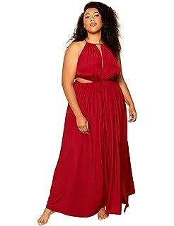 e709d578ccf Astra Signature Women s Plus Size Merivale Maxi Dress Sexy High Side Slit  Party Cocktail Dress
