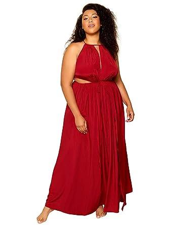f64c71326ae Astra Signature Women s Plus Size Merivale Maxi Dress Sexy High Side ...