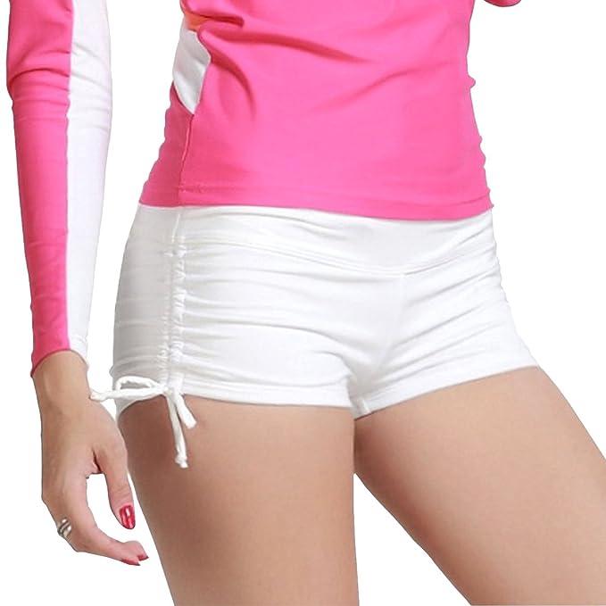 31ce45aa78 Imixcity Shorts de Natación para Deportes Acuáticos para Mujer Bikini  Bottoms Traje de Baño Pantalones Cortos