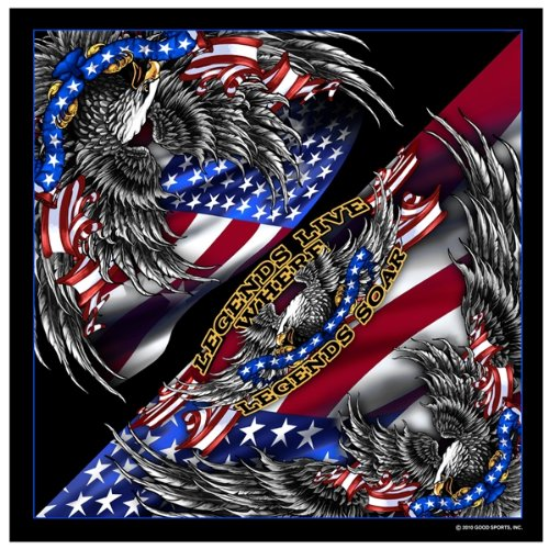 Patriotic Upwing Eagle USA American Flag Bandana Eagle Bandana