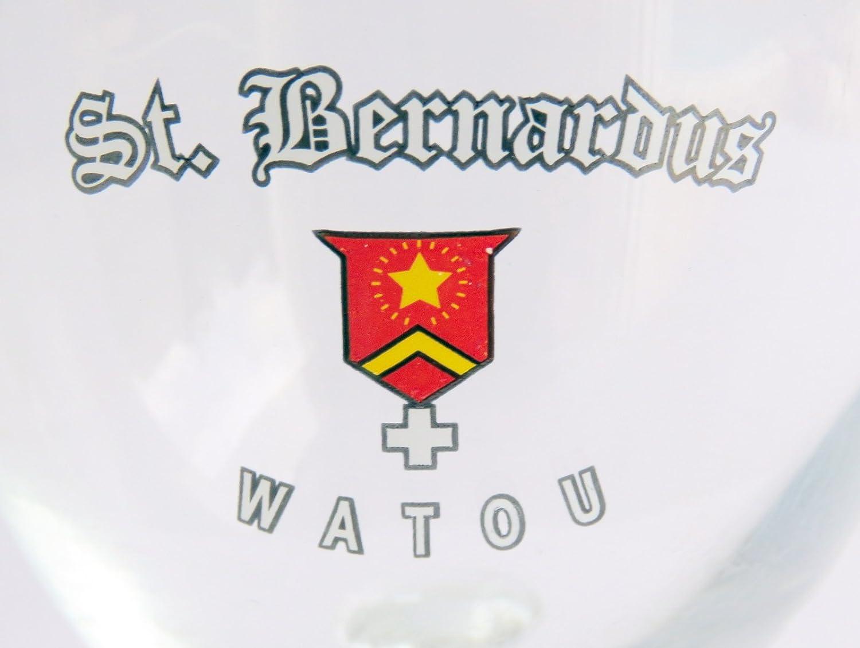 Amazon.com: ST. Bernardus watou logotipo rojo Vintage cáliz vidrio 0,33 cl: Kitchen & Dining