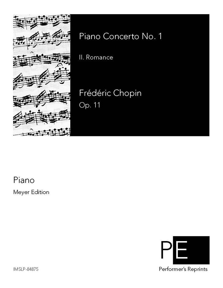 Piano Concerto No. 1 - II. Romance For Piano ebook