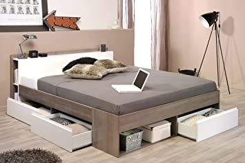 expendio Doppelbett Morris 2 Eiche Silber Nb 160x200 Ehebett Bett ...