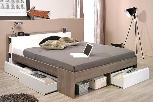 Doppelbett Morris 2 Eiche Silber Nb 160x200 Ehebett Bett ...