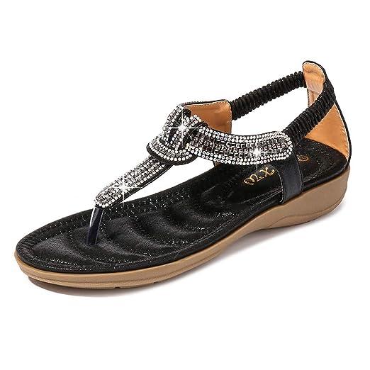 c41044e7b4ab5 Amazon.com: AOP❤️Women Summer Sandals Ladies Bohemia Bling Crystal ...