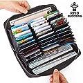 Buvelife Credit Card Wallet Leather RFID Wallet for Women, Huge Storage Capacity