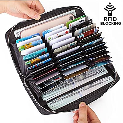 Buvelife Credit Card Wallet Leather RFID Wallet for Women, Huge Storage Capacity