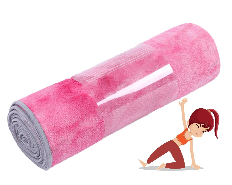 Amazon.com: Grist CC Yoga Towel Non Slip Yoga Mat Microfiber ...