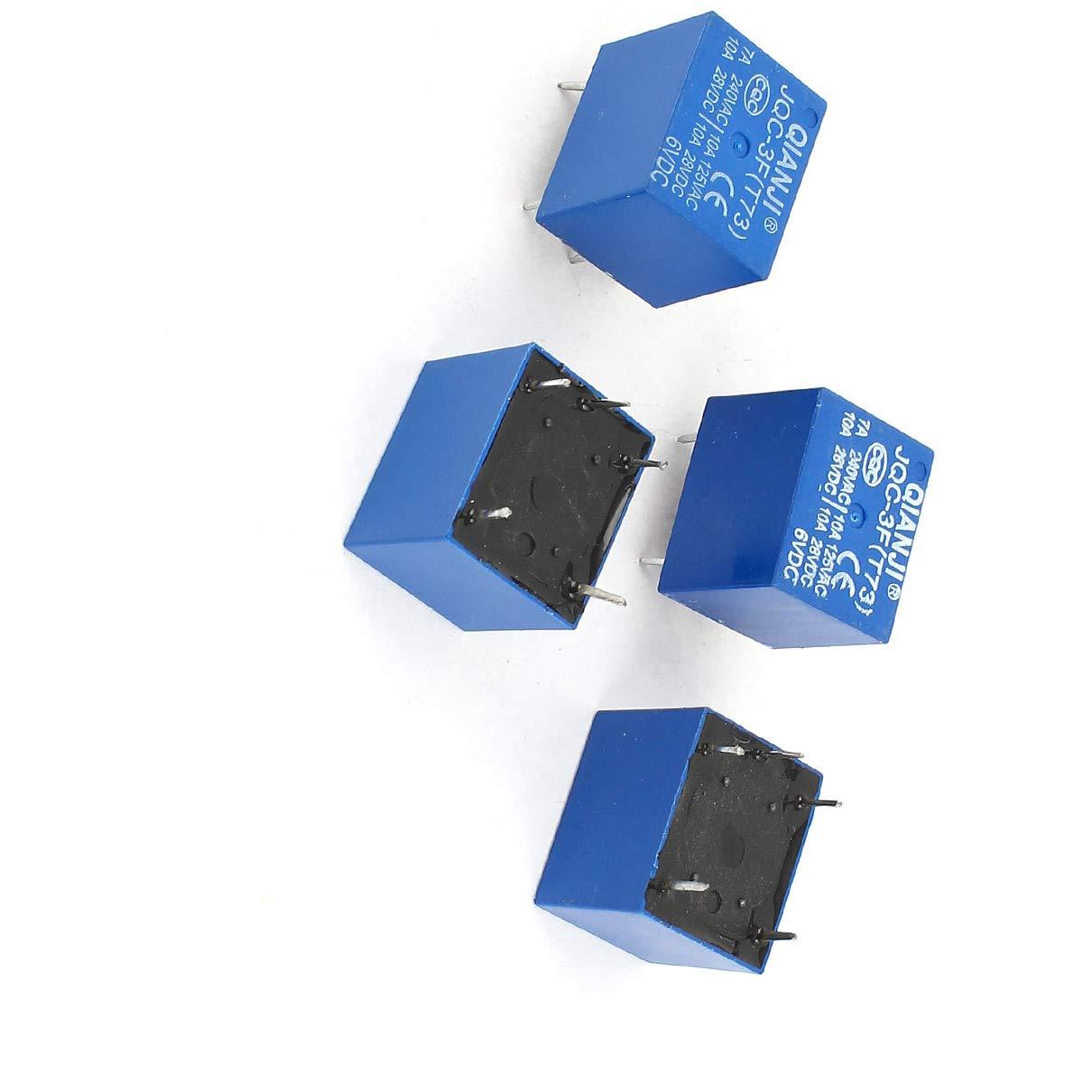 Aexit 4 x JQC-3F T73 531334 5Pin Rel/è di potenza SPST DC 6V Bobina 28 V CA 125 V 240 V Carico ID