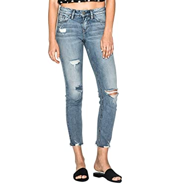 91b95eb8 Amazon.com: Silver Jeans Co. Women's Suki Curvy Fit Mid Rise Ankle Slim  Jeans: Clothing