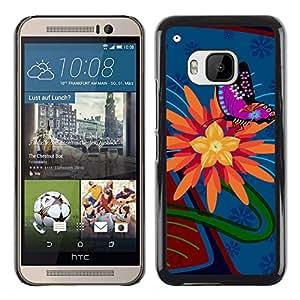 El Sneaky antirrobo - Metal de aluminio y de plástico duro Caja del teléfono - Negro - HTC One M9