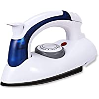 Naman Trading Co Aluminium Plastic Mini Electric Steam Iron for Clothes for Travelling (White)