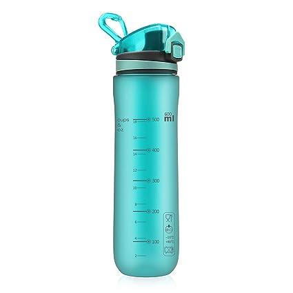 a4f878c860 Letsfit Sports Water Bottle, BPA-Free Tritan Plastic Water Bottle with  Locking Flip-Flop Lid, Leakpoof and Dustproof Cap, Carry Loop, 21oz Bottle  for ...