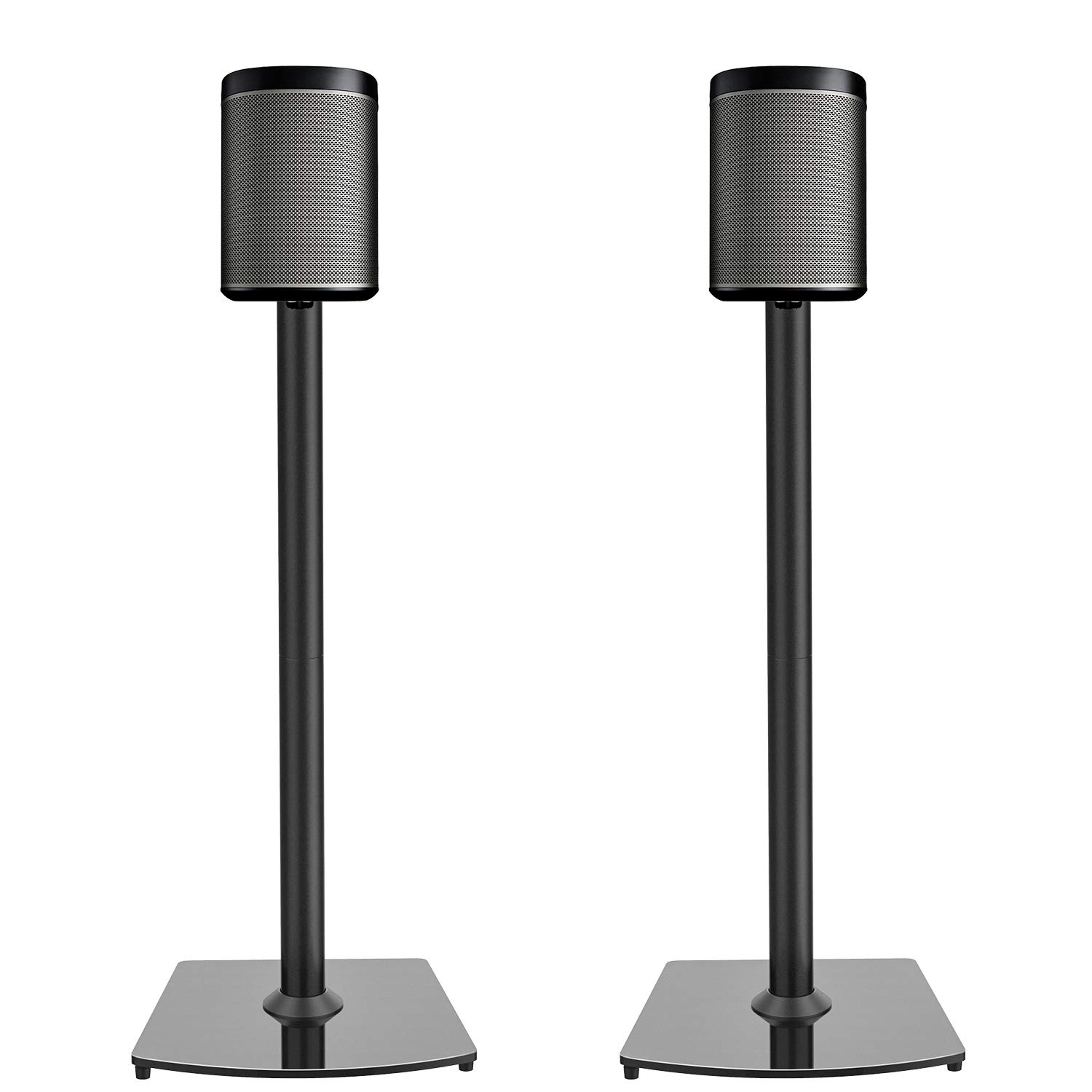 PERLESMITH Sonos Speaker Stands- for Sonos One, One SL, Play:1, Play:3 Bookshelf Speaker-Heavy Duty Floor Stands with Cable Management-1 Pair by PERLESMITH