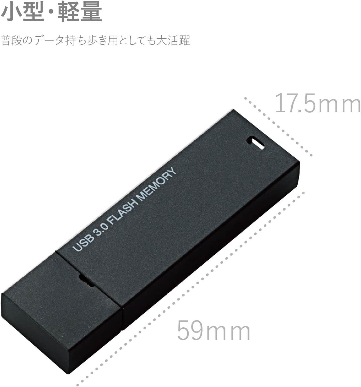 32GB ? Black MF-MSU3A32GBK Elecom USB3.0 memory MF-MSU3A Series