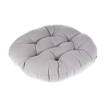 Amazon.com: WINOMO - Cojín redondo de lino y algodón para ...