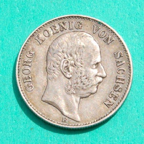(Germany / Saxony Georg Koenig von Sachsen 1904 E 2 German Mark Silver Coin)