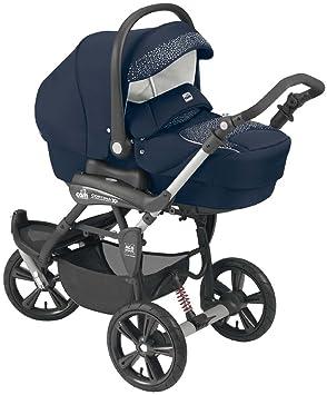 Cam Il Mondo Del Bambino - ART891 - Cortina X3 Tris Evolution - Cochecito con sistema de tres módulos, cristales, azul: Amazon.es: Bebé